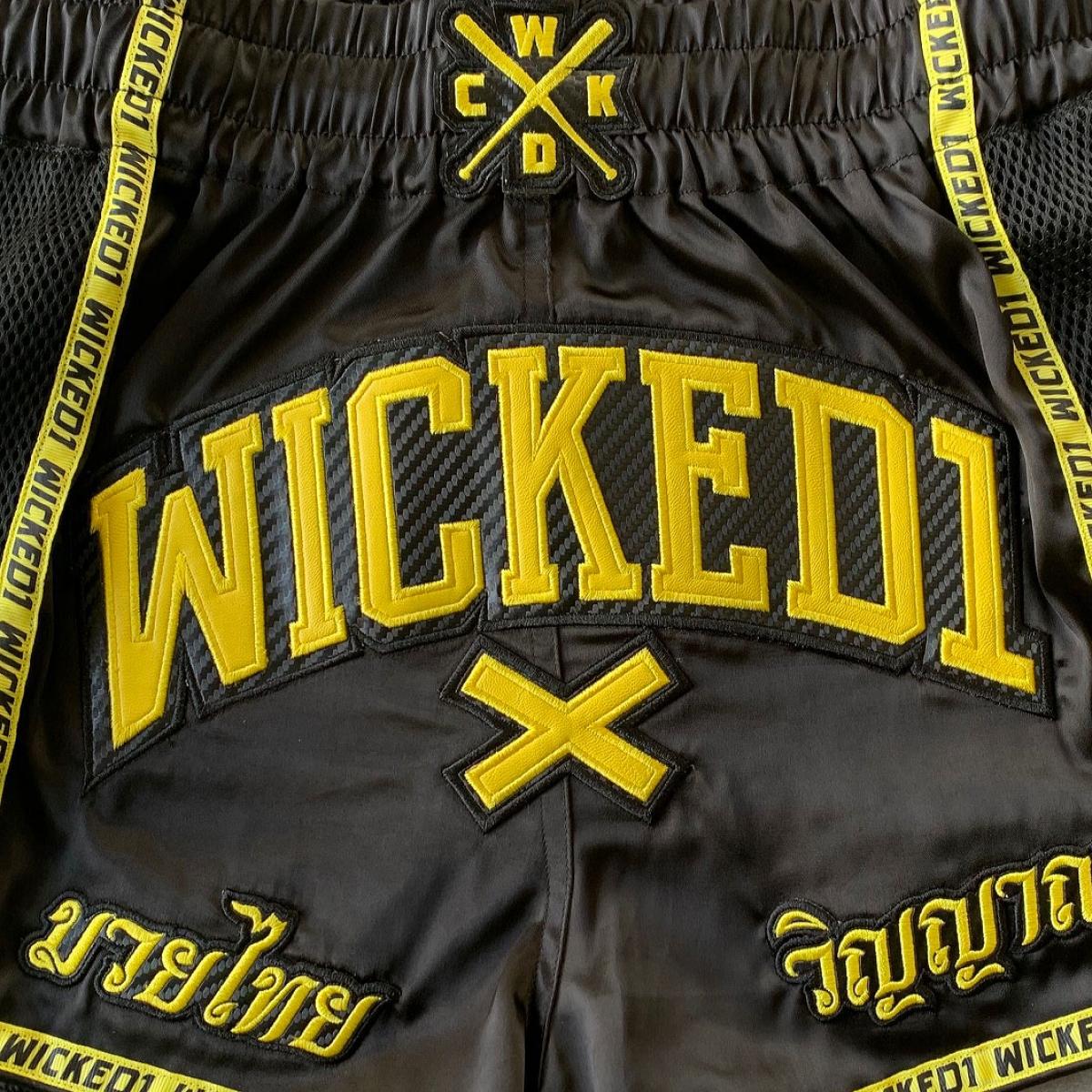 Thai Kick boxing short Black /& Yellow
